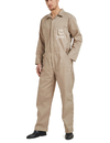 TOPTIE Personalized Khaki Workwear with Front Zip, Regular Coverall Customize with Name Company Logo