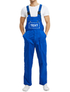 TOPTIE Custom Bib Overall Pants, Blue Overall Men's Work Uniform Upload Your Logo or Name