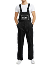 TOPTIE Custom Work Uniform, 8.5 oz Men's Bib Overall with Tool Pockets, Black Work Cargo Pants