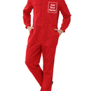 TOPTIE Custom Coverall Men's Action Back Coverall, 8.5 Oz Front-Zip Long Sleeve Twill Uniform, Regular Size