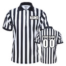 TOPTIE Men's Pro-Style Referee Shirt with Zipper Personalized with Names, Numbers and Personalized Messages
