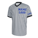 TOPTIE Custom Basketball Referee Jersey, Personalized Men's Grey Shirt with Black Pinstripes