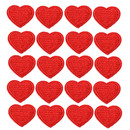 TOPTIE 20 Pcs Solid Heart Patches Sew on Iron on Patch Embroidered Applique Decoration (4 Sizes)