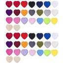 TOPTIE 46 Pcs Small Heart Iron on Patches Embroidered Sew on Patches for Clothing