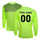 TOPTIE Long Sleeve Soccer Goalkeeper Jersey Personalized with Name and Number