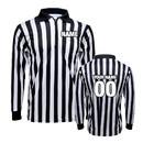 TOPTIE Men's Long Sleeve Striped Referee Shirt Design Online