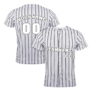 TOPTIE Custom Pinstripe Baseball Jersey for Men and Boy, Button Down Jersey Add Your Name and Number