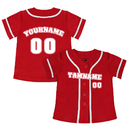 TOPTIE Custom Design Boys Baseball Jersey, Kids Jersey Button Down