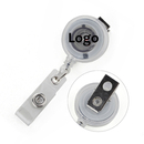 Custom Round Swirl Circle Retracting Badge Clips
