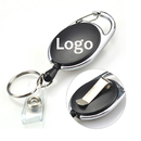 Custom Oval Carabiner Badge Reels With Back Splint, Pad Print Method
