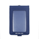 GOGO Promotional Vertical Business PU Leather ID Card Credit Card Durable Badge Holder, no lanyard