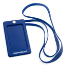GOGO Promotional Vertical Silicone Bussiness Card ID Card Bagde Holder with Lanyard