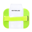 GOGO Custom Armband ID Badge Holders, Top Loading with Adjustable Elastic Band for Outdoors, Warehouse, Security, Construction