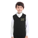 TOPTIE Custom Embroidery Children V-Neck Cotton Knit Sleeveless Pullover School Uniform Sweater Vest