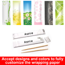 Custom Wholesale Individual Coated Paper Wrapped Wood Toothpicks, Pack of 100