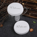 5000Packs Printed Large Thick Paper Cup Cap With Straw Hole 100PCS/Pack Customization