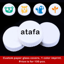 Custom Glass Cover Printed Coated Paper with Film Cup Lids 100 Pcs per Pack, Bulk Sale