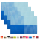 Aspire PVC Insulation Woven Place Mat Check Pattern Eat Mats for Kitchen Table, 17.7