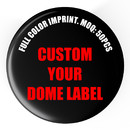 50 Pcs/Pack Customized Round Badge Reel Stickers, Custom Dome Label
