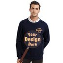 Custom Men's Pullover Embroidery Crewneck Sweaters, Add Your Own Design
