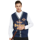 Embroider Monogrammed Men's Cardigan Custom Stylish Button Sweater Vest