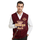 Embroidery Men's Lightweight Thermal Cardigan Custom Sweater Vest
