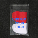 Custom Printing Clear Self Sealing Plastic Bag for Garment Package 100 Pieces/Pack 6.7X9.8 inch