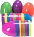 Colorful Plastic Easter Eggs Surprise Empty Shells Perfect for Easter Hunt