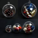 Printed Personalized Clear Transparent Fillable Ornaments Ball, Plastic Eternal Flower Hollow Ball