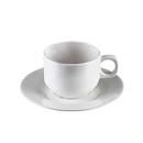 Wholesale Durable Plastic Coffee Cup Set with Saucer, Set of 2