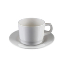 Plastic Coffee Mug Set for Tea Cappuccino - Break-Resistant Cup Saucer, Bulk Sale