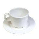 White Reusable Plastic Tea/Coffee Cup with Handle Tableware Serving, Bulk Sale