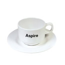 Custom Unbreakable Wholesale Teacup and Saucer Set 200ml Tea Cups for Daily Drinking
