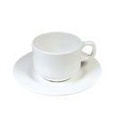 Wholesale Unbreakable Teacup and Saucer Set 200ml Tea Cups for Daily Drinking