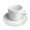 Break-Resistant Tea Cup Set White Plastic Espresso Cups Set, Bulk Sale