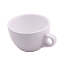 White Tea Cup Unbreakable Plastic Drinkware for Coffee Cappuccino Beverages