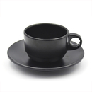 Wholesale Black Espresso Cup Set with Premium Quality Plastic Teacup and Saucer