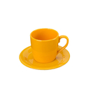 Colored Plastic Coffee Mugs Set with Saucer Cappuccino Sets, Bulk Sale