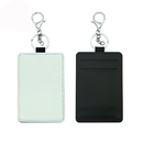 Sublimation Personalized PU Secure Thin Credit Card Holder Keychain