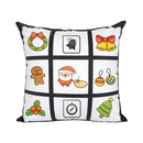 8 Pcs Personalized 9 Panel Sublimation Blank Pillow Cover 18