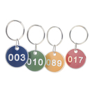 Aspire Custom Number Metal Key Tag, 1-3/16