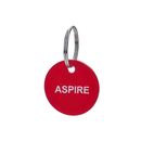 Aspire Custom Acrylic Key ID Tags with Key Ring, 10-pcs