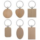 Aspire 10 PCS Wooden Key Chains, Wood Key Tag DIY Gift Idea