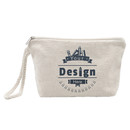 Aspire Custom Canvas Wristlet Makeup Bag, 7 1/2
