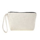 Aspire Sample Wristlet Makeup Pouch with Zipper and Lining, Flat Bottom Canvas Travel Bag
