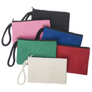 Aspire Wristlet Canvas Zipper Pouch Makeup Bag Party Favor Pouch 6 3/4
