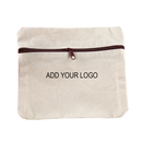 Aspire Custom DIY Cotton Canvas Zipper Pouch, 6 11/16 x 5 7/8 Inch Storage Bag