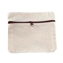 Aspire DIY Cotton Canvas Zipper Pouch, 6 11/16 x 5 7/8 Inch Storage Bag