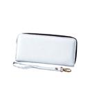 Aspire DIY Canvas Ladies Wallet Case, Zipper Clutch Purse with Removable Wristlet Strap