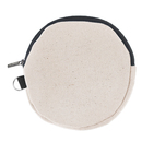 Aspire Round Coin Pouch W/D Ring Cotton Canvas Zipper Bag